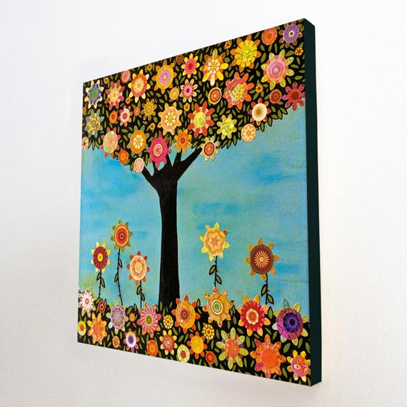 Large Wood Block Print of my Tree Painting - In Full Bloom